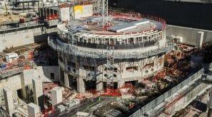 Chantier du projet ITER en cours de construction