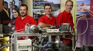 3 membres de l'équipe ayant travaillé sur le projet Energine