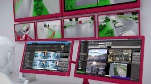 Mur d'écrans de supervision d'un site sensible